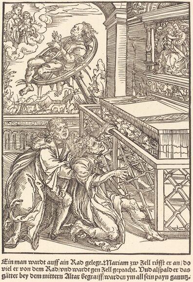 Master of the Miracles of Mariazell, 'Ein man wardt auff ain Rad ...', ca. 1503