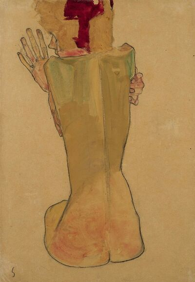 Egon Schiele, 'Study of the Artist's Sister', 1910