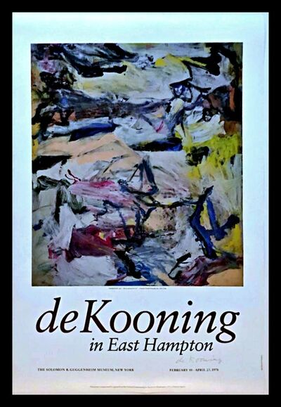 Willem de Kooning, 'de Kooning in East Hampton (Hand Signed), from the estate of de Kooning's optometrist', 1978