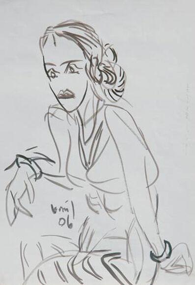 K. G. Subramanyan, 'Ink drawing of women by the Padma Vibhushan and Padma Bhushan awardee K.G. Subramanyan', 2006