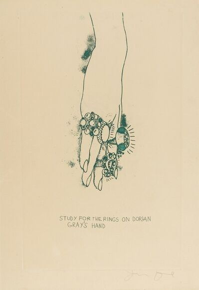 Jim Dine, 'Study for the Rings on Dorian Gray's Hand (Mirko 47h)', 1968