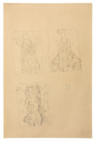 Gustav Klimt, 'Composition sketches for Portrait of Eugenia Primavesi', 1912-1913