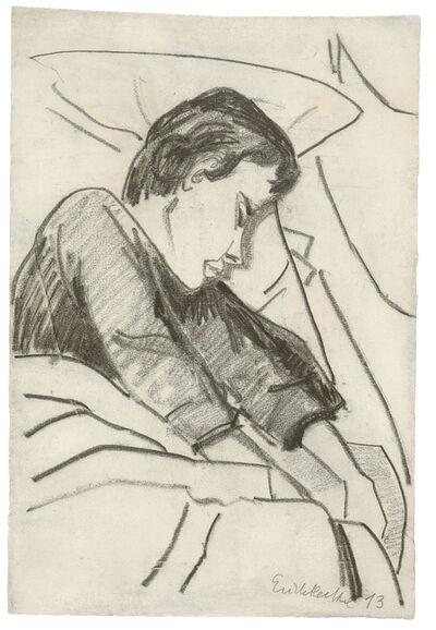 Erich Heckel, 'Schlafendes Mädchen', 1913