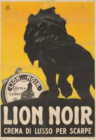 Plinio Codognato, 'LION NOIR, CREMA DI LUSSO PER SCARPE', ca. 1925