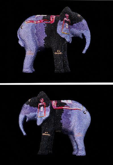 "Metis Atash, 'ELEPHANT Small ""CHANEL No. 5 in purple"" feat. Warhol', 2019"