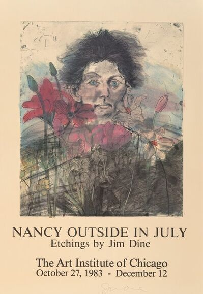 After Jim Dine, 'Nancy Outside in July, exhibition poster', 1983