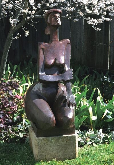 """Wayne Salge, '""""Augusta"""" large-scale sculpture of a woman kneeling with vibrant bronze patina', 2018"""