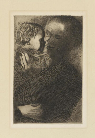 Käthe Kollwitz, 'Mother with a Child on her arms', 1910