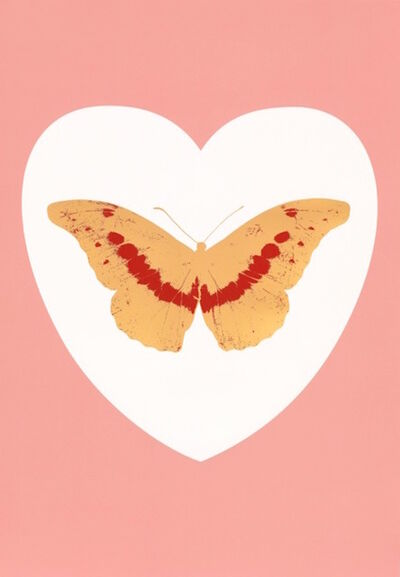 Damien Hirst, ' I Love You - white, pink, cool gold, poppy red 2015 6/14', 2010