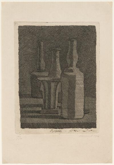 Giorgio Morandi, 'Natura morta con vasetto e tre bottiglie, 1945 (Vitali 112)', 1945