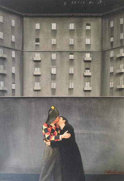 Paolo Ventura, 'Bozzetto - Il bacio di A.', 2017