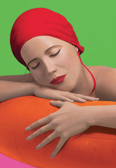 Carole A. Feuerman, 'SERENA WITH RED CAP', 2014