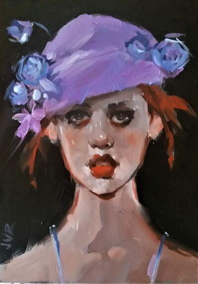June Valentine Ruppe, 'Purple Hat', 2018