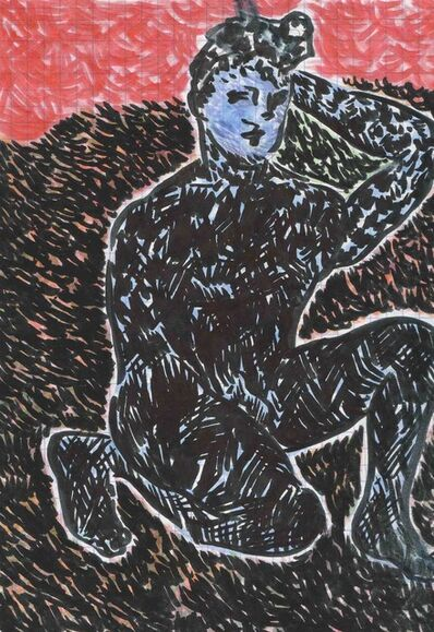 Christian Newby, 'Awkward Blue Posture', 2018