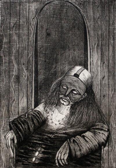 Sergio Vacchi, 'Autoritratto con Maschera', 1981