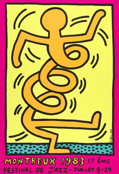 Keith Haring, 'Montreux Jazz Festival (Three works)', 1983