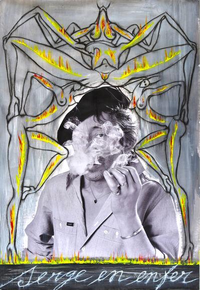 José Bedia, 'Serge en enfer', 2017