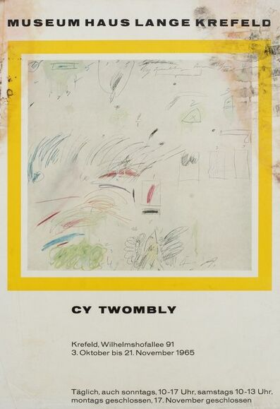 Cy Twombly, 'Cy Twombly', 1965