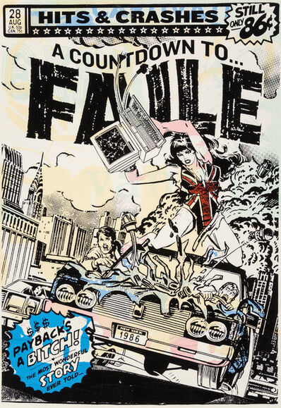FAILE, 'Hits & Crashes (White) ', 2007