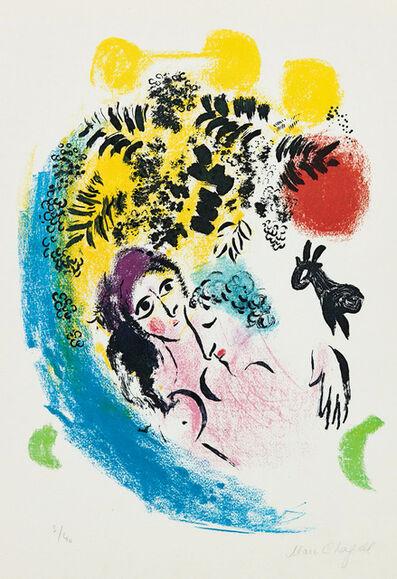 Marc Chagall, 'Les Amoureux au soleil rouge', 1960