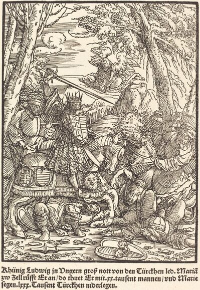 Master of the Miracles of Mariazell, 'Khunig Ludwig ...', ca. 1503