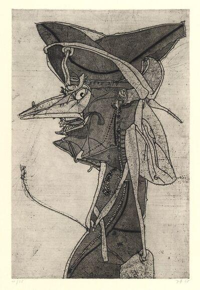 Horst Janssen, 'Friedrich der Grosse oder Voltaire'