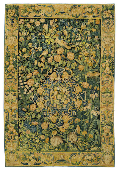 Unknown Flemish, 'Fond de Fleurs', Mid 16th century