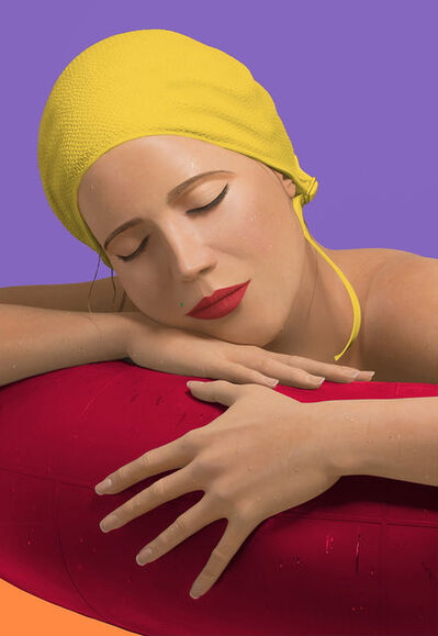 Carole A. Feuerman, 'Serena with Yellow Cap', 2012