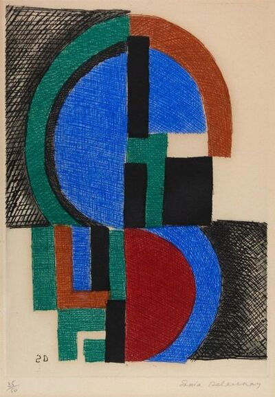 Sonia Delaunay, 'Composition ', 1966