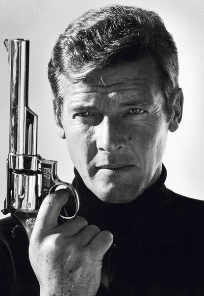 Terry O'Neill, 'Roger Moore as James Bond - Co-signed by Roger Moore', 1973