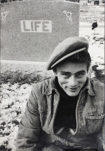 Dennis Stock, 'James Dean at the Fairmount cemetery, Indiana', 1955