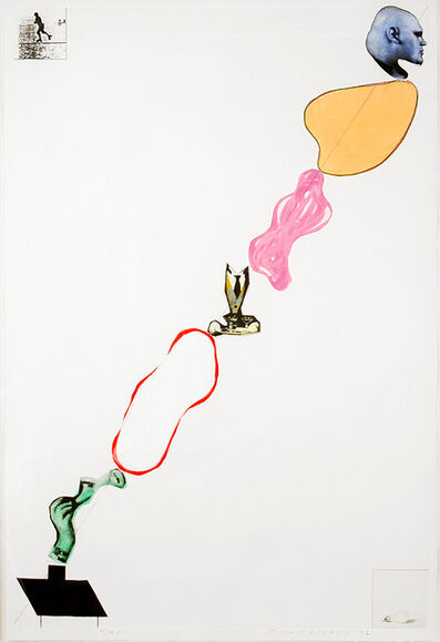 John Baldessari, 'Domestic Smoke: Desire, Power, Colored Intervals,    and Genie (with Two Boxed Asides) ', 1992