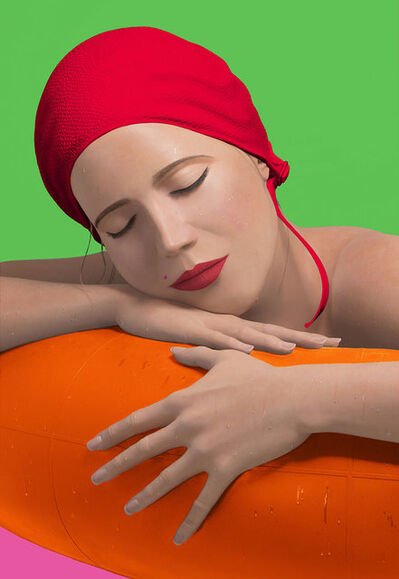 Carole A. Feuerman, 'Serena with Red Cap', 2012