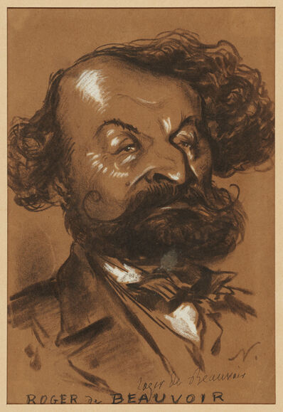 Nadar, 'Caricature of Roger de Beauvoir', ca. 1854