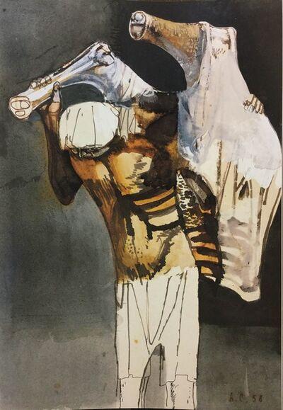 Leonardo Cremonini, 'L'uomo che porta la carne', 1958