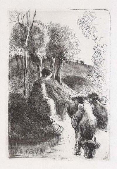 Camille Pissarro, 'Vachère au Bord de l'Eau', 1890