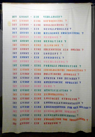 Lea Lublin, 'Ist Kunst (Interrogations sur l'art) ', 1975