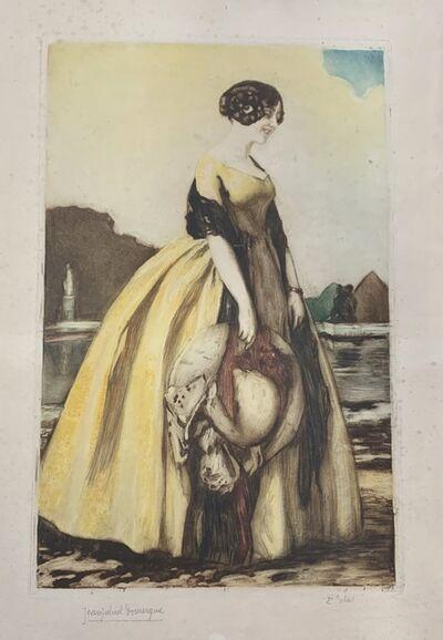 Jean Gabriel Domergue, 'Femme avec chapeau', 1889-1962