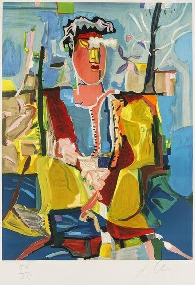 Sandro Chia, 'Figura con albero', c.1990