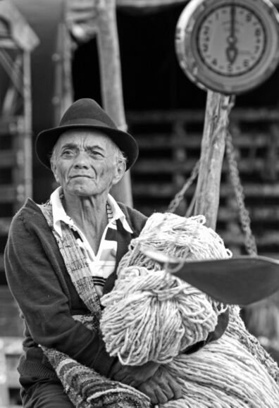 Larry Garmezy, 'Andean Market Day #2 - Villa de Leyva, Colombian village portrait photography close-up in black and White', 2017