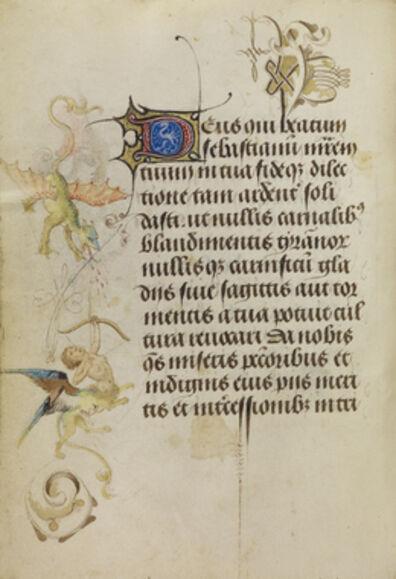Nicolas Spierinck, 'Decorated Text Page', 1469