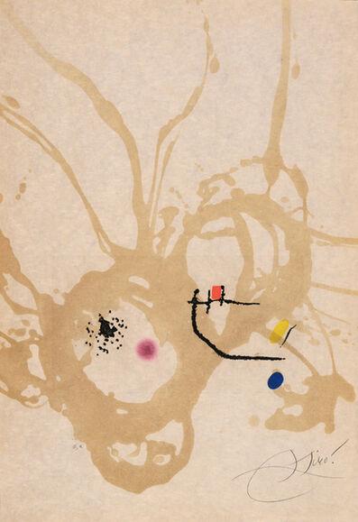 Joan Miró, 'Passage de l'Égyptienne (D-1194)', 1985