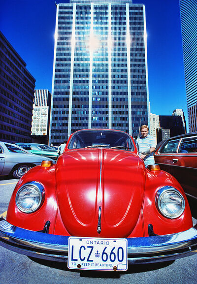 Mitchell Funk, 'Red Volkswagen Beetle  in Toronto', 1974