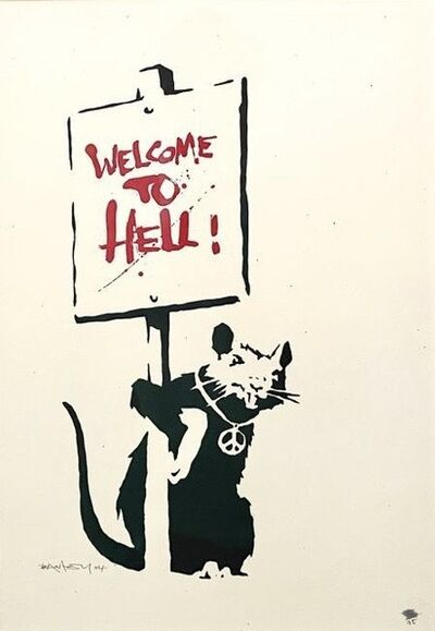 Banksy, 'Welcome To Hell (Signed)', 2004