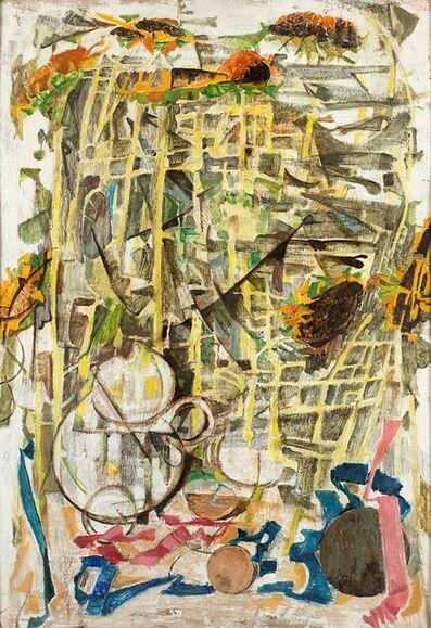 Fausto Pirandello, 'Untitled (Girasoli e teiera)', 1955