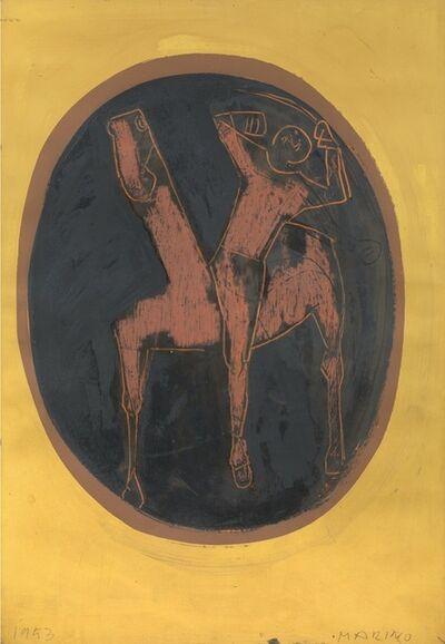 Marino Marini, 'Cavallo e cavaliere', 1953