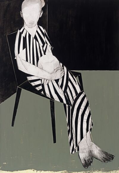 Iris Schomaker, 'Cecile (striped lady)', 2016