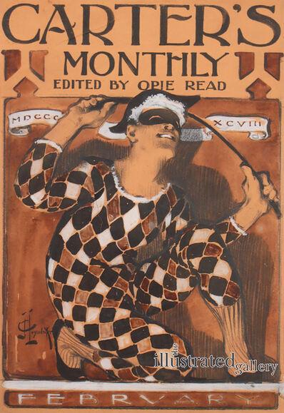 Joseph Christian Leyendecker, 'Harlequin Grinning and Brandishing his Batte ', 1898
