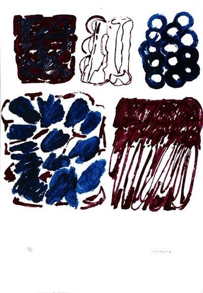 Pietro Consagra, 'Red and Blue', ca. 1970