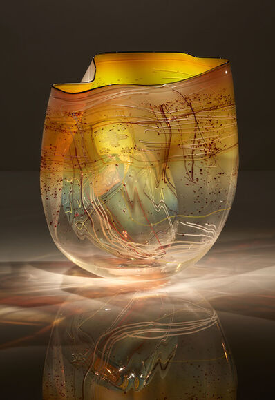 Dale Chihuly, 'Iris Amber Basket Set with Drawing Shard', 2017